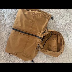 Khaki vintage Tommy Hilfiger zip up hoodie